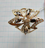 Золотое кольцо с РАУХТОПАЗАМИ 4.21 грамма 18  размер ЗОЛОТО 585 пробы, фото 6