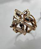 Золотое кольцо с РАУХТОПАЗАМИ 4.21 грамма 18  размер ЗОЛОТО 585 пробы, фото 4