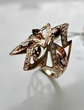 Золотое кольцо с РАУХТОПАЗАМИ 4.21 грамма 18  размер ЗОЛОТО 585 пробы, фото 3