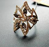 Золотое кольцо с РАУХТОПАЗАМИ 4.21 грамма 18  размер ЗОЛОТО 585 пробы, фото 2
