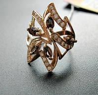 Золотое кольцо с РАУХТОПАЗАМИ 4.21 грамма 18  размер ЗОЛОТО 585 пробы