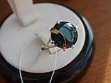 Серебряное кольцо с золотой пластинкой и танзанитом, фото 3