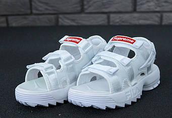 Женские FILA Disruptor х Supreme Sandals (люкс копия)