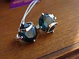 Серебряное кольцо с золотой пластинкой и танзанитом, фото 9