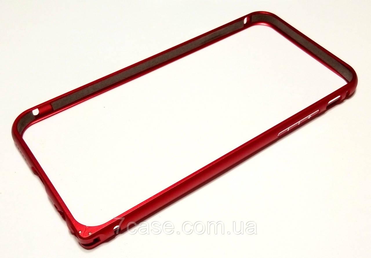 Чехол бампер для iPhone 6 / 6s металлический красный