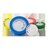 Фильтры шприцевые, Ø 25 мм, ацетат целлюлозы, 0,22 мкм, корпус ПП оранжевый, уп. 100 шт.