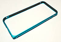 Чехол бампер для iPhone 6 / 6s металлический голубой