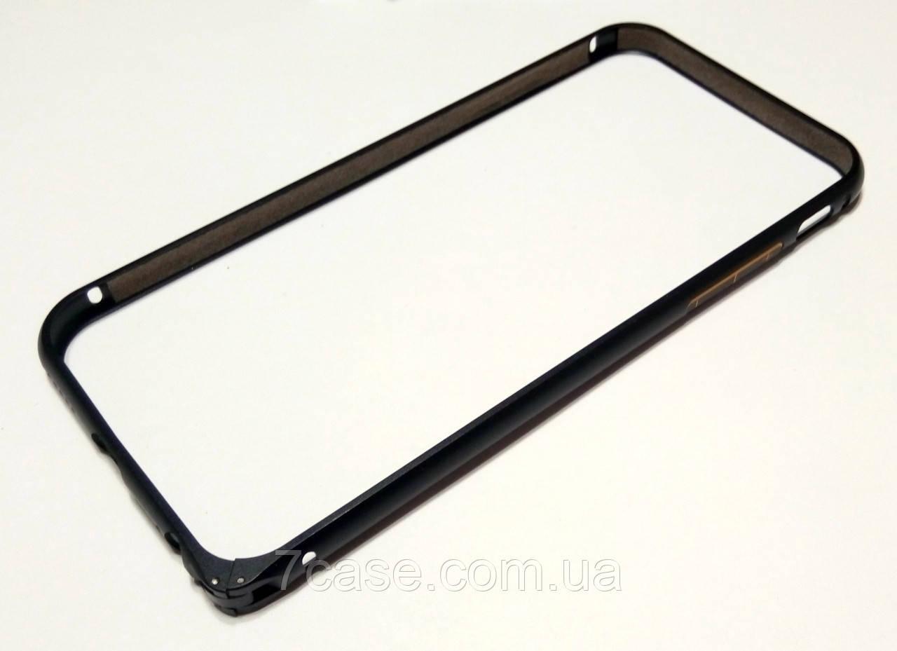 Чехол бампер для iPhone 6 / 6s металлический черный матовый