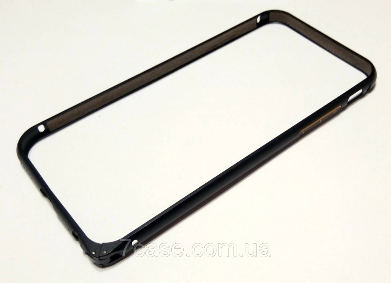 Чохол бампер для iPhone 6 / 6s металевий чорний матовий