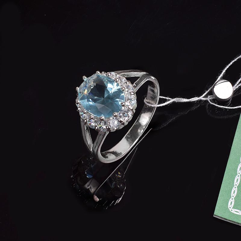 Кольцо Малинка с камнем