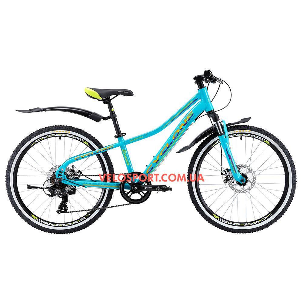 Подростковый велосипед Cyclone Dream 24 дюйма голубой