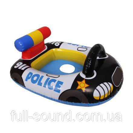 Детский надувной плотик полицейский катер
