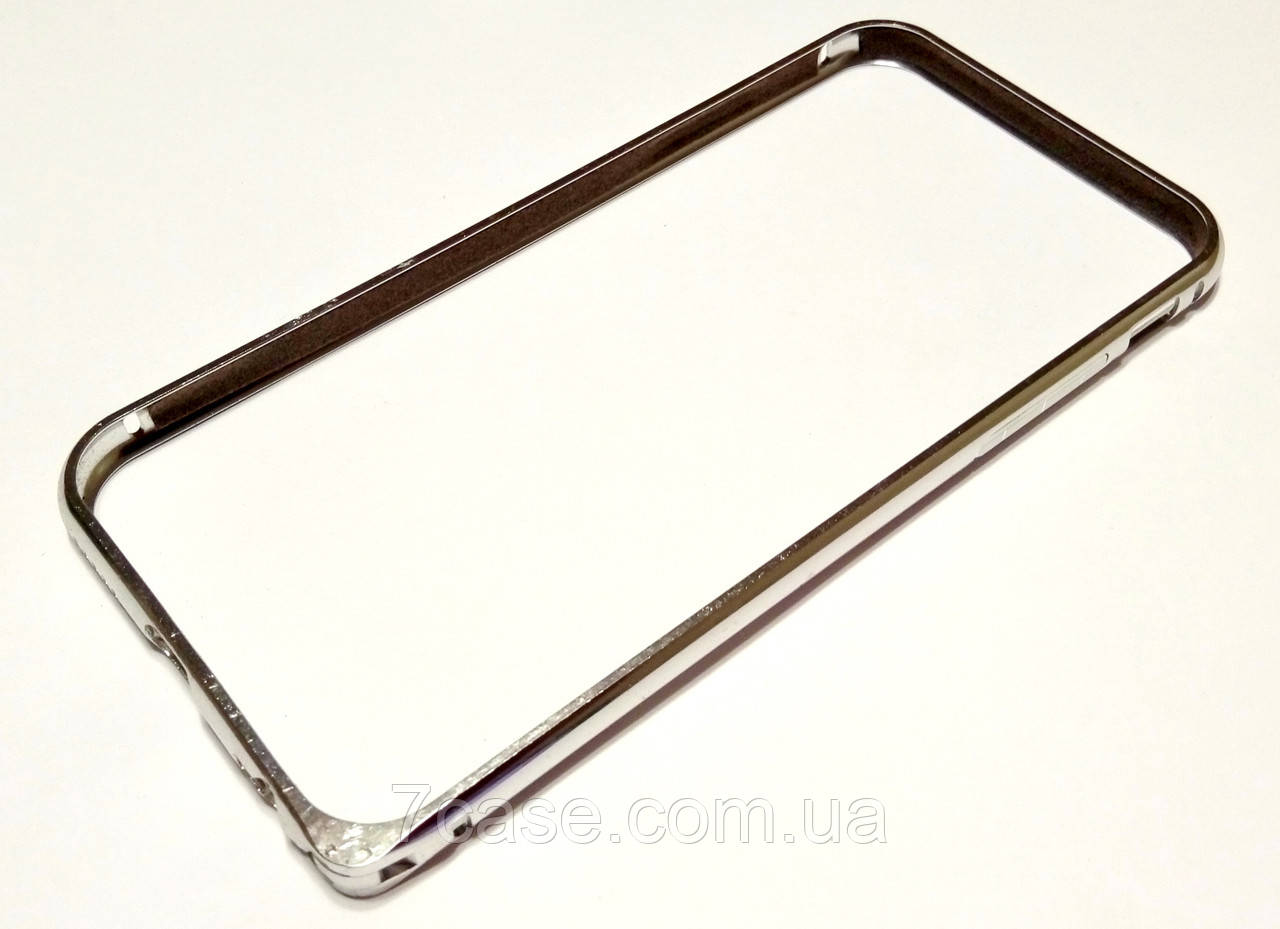 Чехол бампер для iPhone 6 / 6s металлический серебряный