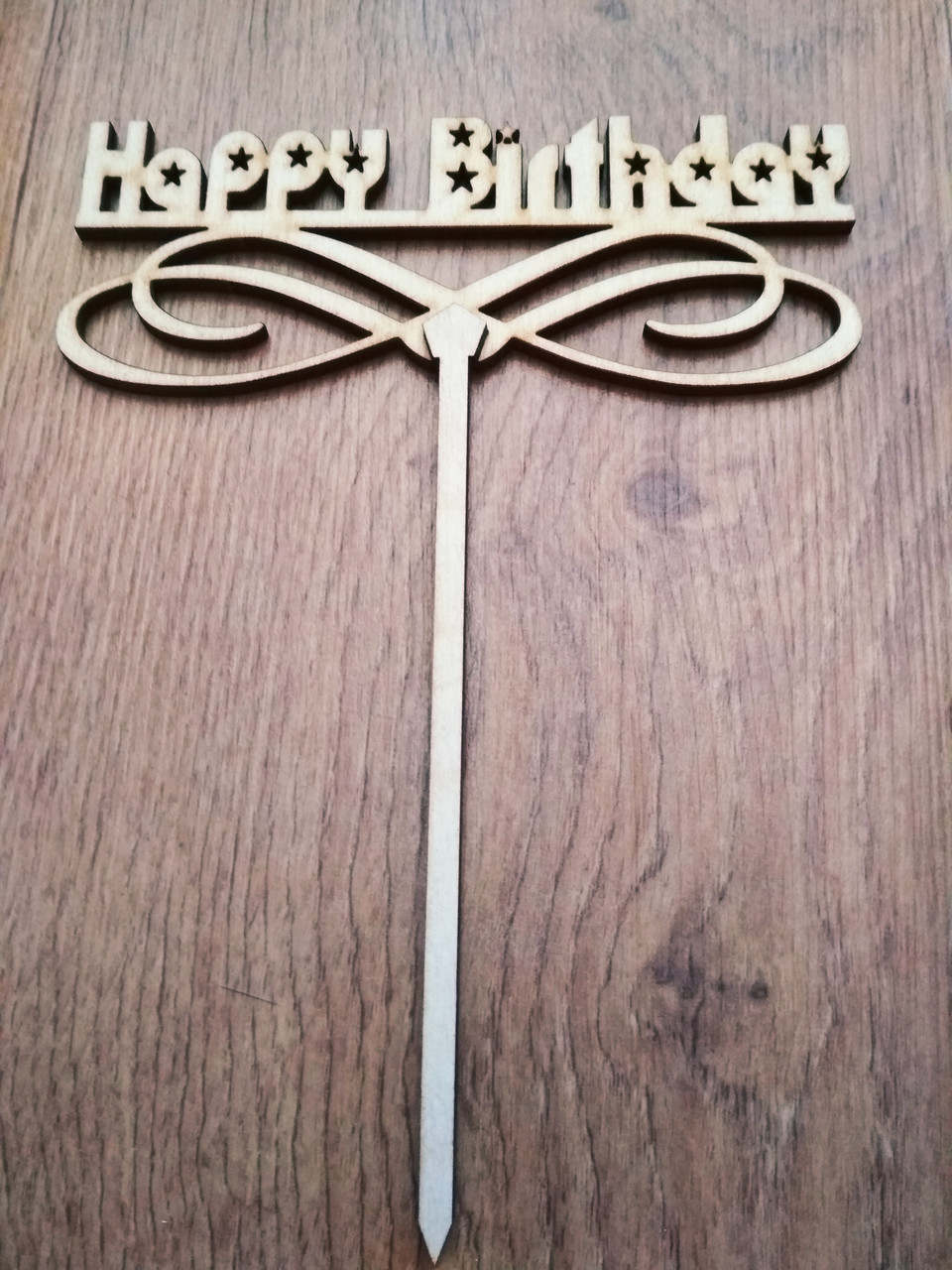 Топпер для торта. Happy Birthday