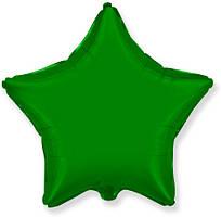 """Фольгований куля """"Зірка"""" зелена 45 см, Flexmetal Іспанія"""