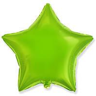 """Фольгований куля """"Зірка"""" колір лайм 45 см, Flexmetal Іспанія"""
