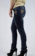 Женские джинсы She wants со стразами и перьями