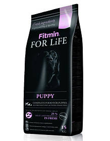 сухий корм  FITMIN Dog for life puppy 15 kg