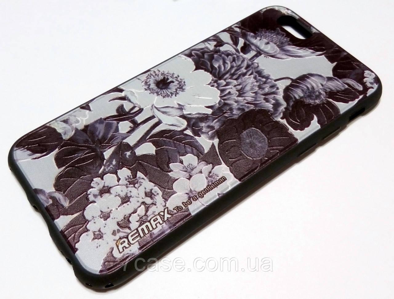 Чехол для iPhone 6 / 6s силиконовый Remax с рисунком цветы