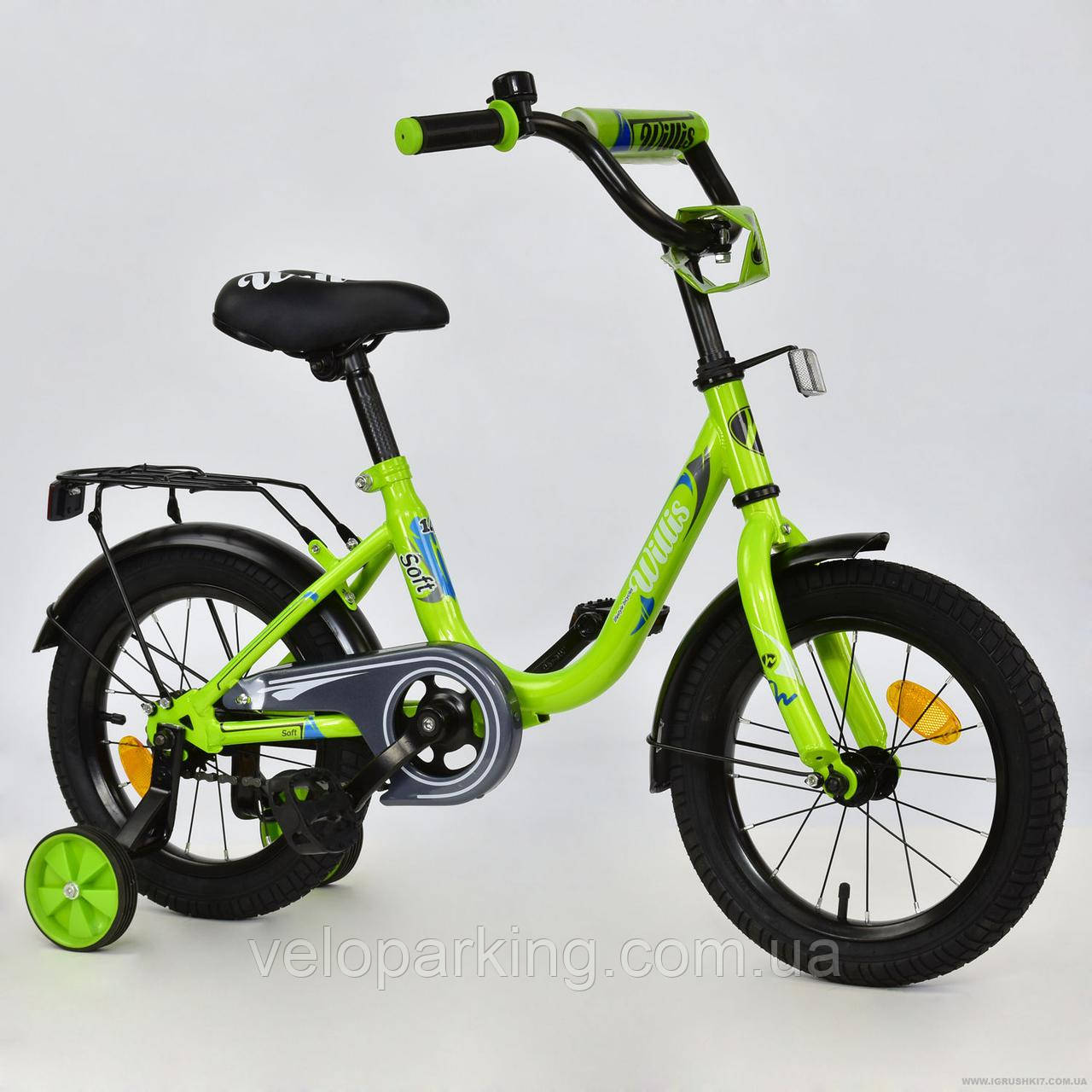 """Велосипед 2-х колёсный R 1414 """"WILLIS"""" ЗЕЛЕНЫЙ"""