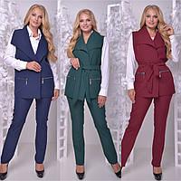 Женский костюм: жилет и брюки, в расцветках, р-р 50-60. НО-4-0718