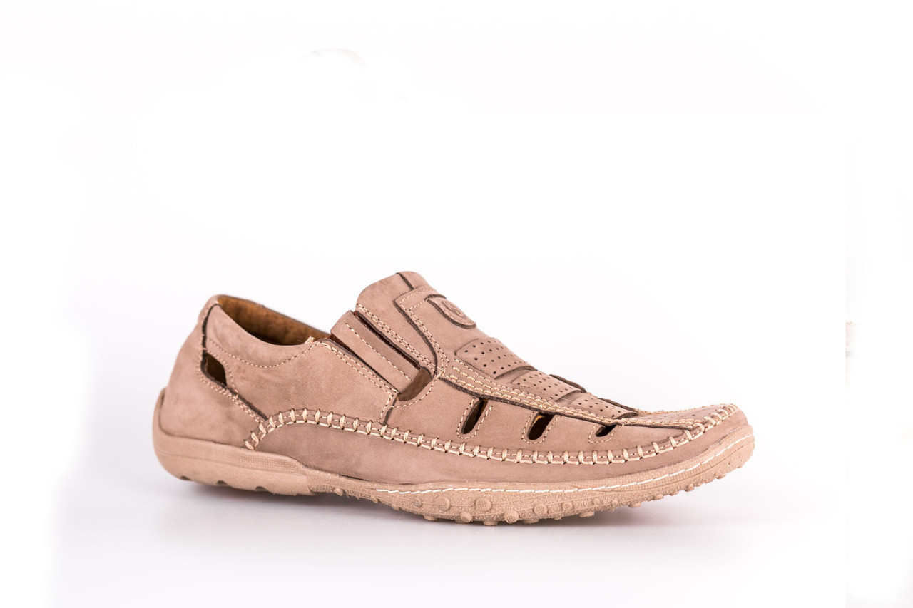 073049ae622af5 Сандалі Kadar нубук, бежеві - Магазин чоловічого взуття