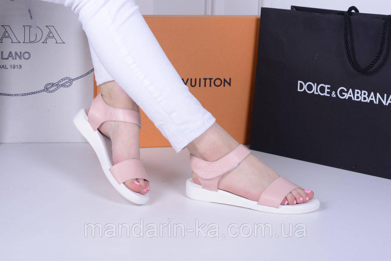 Женские  сандали пудра