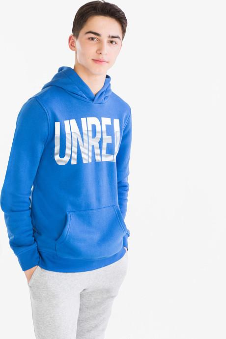 Синяя толстовка с капюшоном на мальчика 9-10 лет C&A Германия Размер 134-140