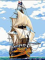 Рисование по номерам Белоснежные паруса (VK055) 30 х 40 см DIY Babylon