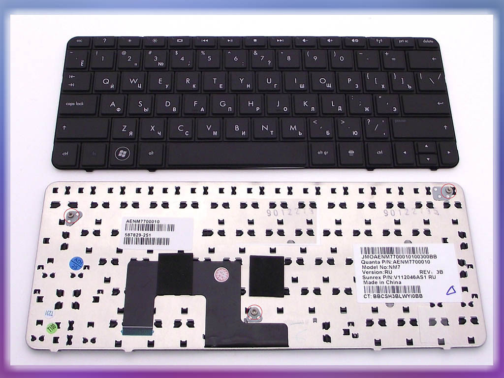 Клавиатура HP MINI 210-1000 ( RU Black ). 587829-251 Оригинальная клав