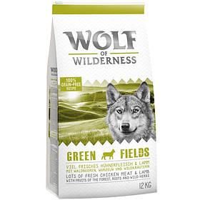 Wolf of Wilderness Green Field - ягненок 12 кг