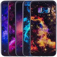 TPU+Glass чехол Космос для Samsung G950 Galaxy S8