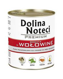 Dolina Noteci PREMIUM Консервы для собак с говядиной, овощами и рисом 0,8 kg