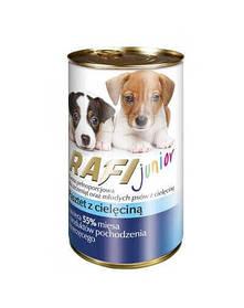 DN RAFI Junior Паштет Полнорационный корм для щенков и молодых собак всех пород с Телятиной 400гр
