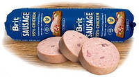 100002 Brit Premium Sausage Курица с рисом, 800 гр