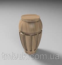 Ножка точеная круглая резная из дерева для тумб, кресел и шкафов. Опора корпусной мебели. 100 мм., фото 3