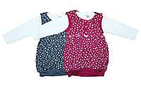 Платье детское трикотажное для девочки. Pink 1062, фото 1