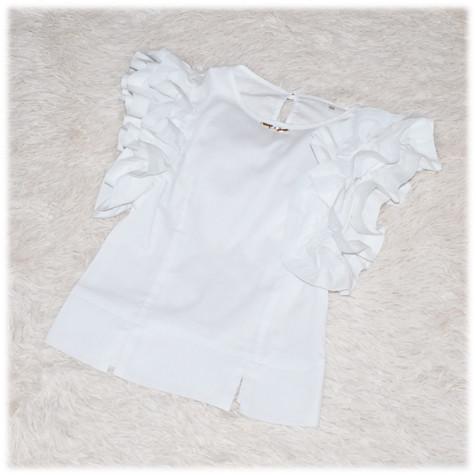 Блуза школьная с коротким рукавом белая для девочки 116 122 128 134 140 146 152 158 164