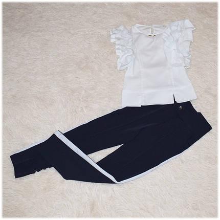 Блуза школьная с коротким рукавом белая для девочки 116 122 128 134 140 146 152 158 164, фото 2