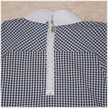 Блуза школьная с длинным рукавом белая для девочки  140 152 , фото 2