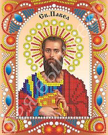 """Именная икона с камнями и жемчугом """"Святой Павел"""""""
