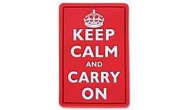 JTG – Нашивка 3D – Keep Calm and Carry On – Красный