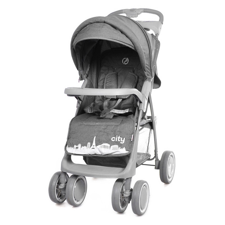 Коляска прогулочная City, «Babycare» (BC-5201), цвет Grey (серый в льне)