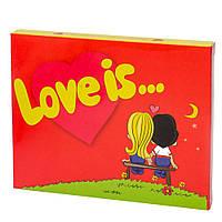 """Шоколад """"Love is"""" 12 плиток Гранд Презент 035"""