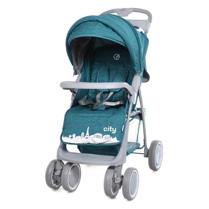 Коляска прогулочная City, «Babycare» (BC-5201), цвет Green (зелёный в льне)