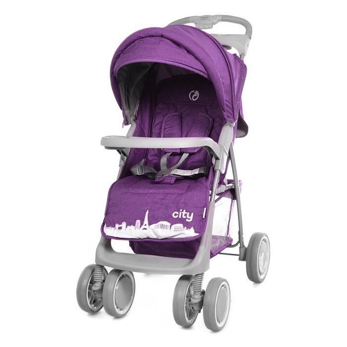 Коляска прогулочная City, «Babycare» (BC-5201), цвет Purple (фиолетовый в льне)