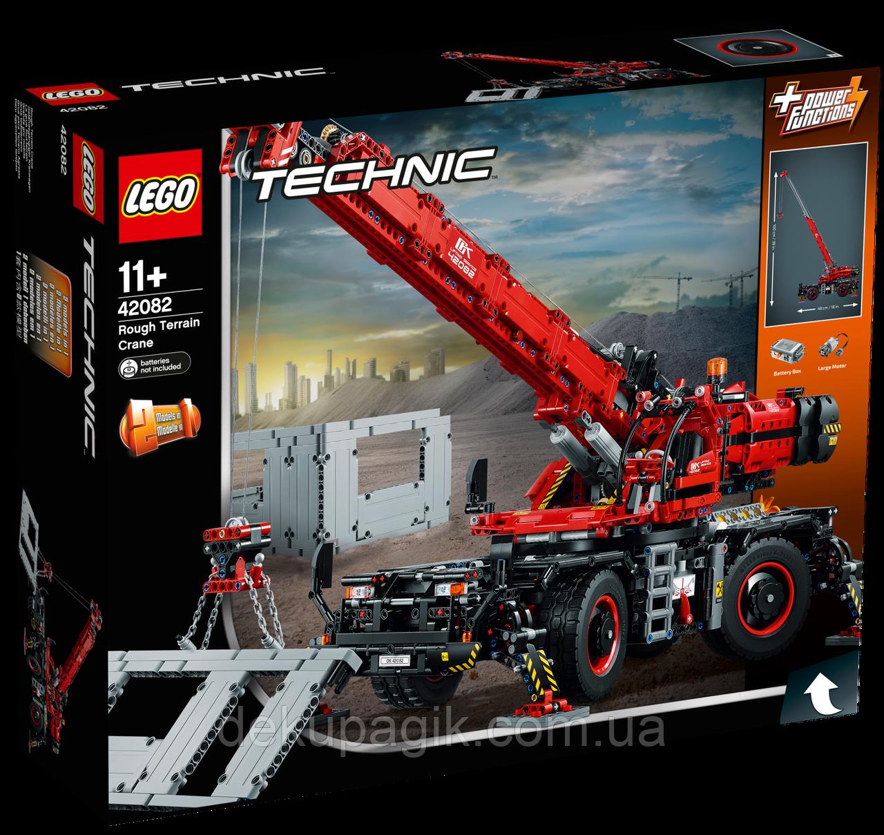 Lego Technic Подъёмный кран для пересечённой местности 42082