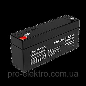 Аккумуляторная батарея LogicPower AGM LPM6-2.8 AH
