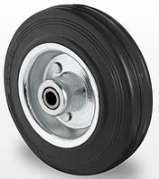 Колесо 125x38 сталь/черная резина, роликовый подшипник