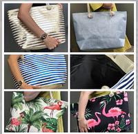 Стильная имиджевая летняя пляжная сумка Фламинго